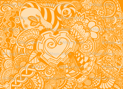 Orange Heart Knots