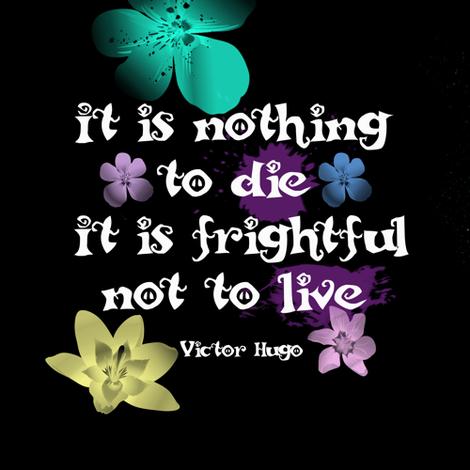 Victor Hugo Quote fabric by magicmamahandmade on Spoonflower - custom fabric