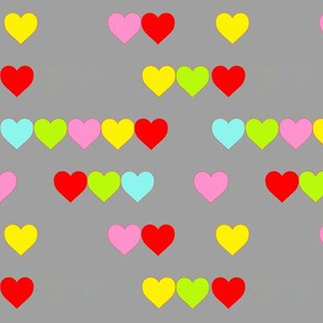 Neon random Hearts