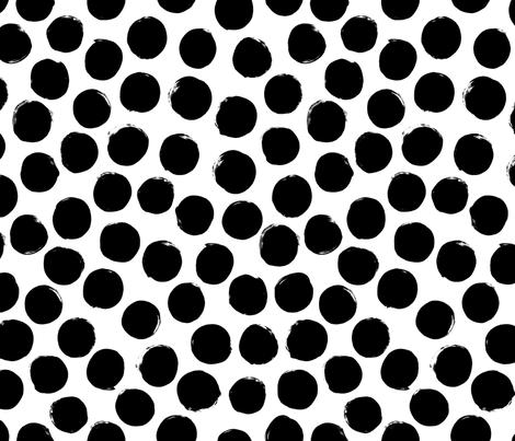 black white polka dot fabric by primuspattern on Spoonflower - custom fabric