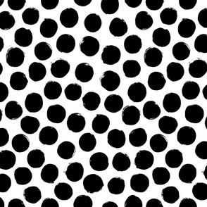 black white polka dot