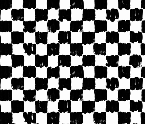 black white checkered fabric by primuspattern on Spoonflower - custom fabric