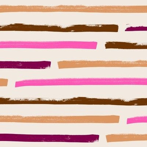 pink caramel big striped horizontal
