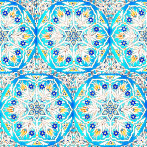 Iznik Stars fabric by amyvail on Spoonflower - custom fabric