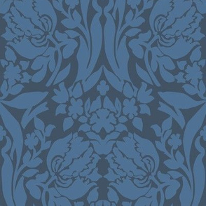 damask frances storm blue