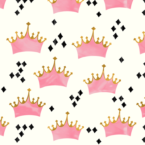 Queen of Diamonds fabric by willowlanetextiles on Spoonflower - custom fabric