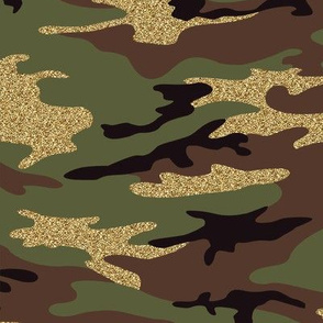 Glitter Woodland Camo - 1 (small effect)