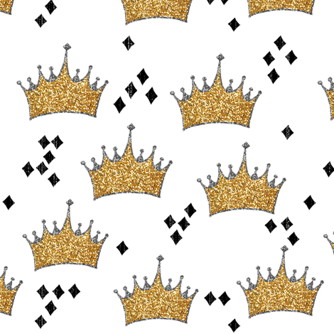 Glitter Crowns fabric by willowlanetextiles on Spoonflower - custom fabric