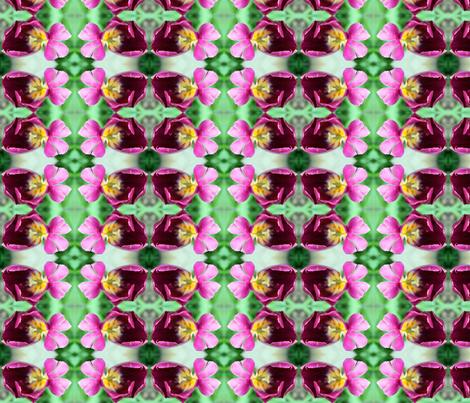 purple tulip fabric by persimondreams on Spoonflower - custom fabric