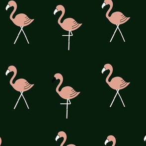 Emerald Flamingos