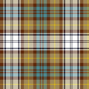 Gordon Dress tartan, weathered, 12""