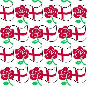 Rose and St George's Flag