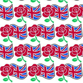 Rose and The Union Jack Flag