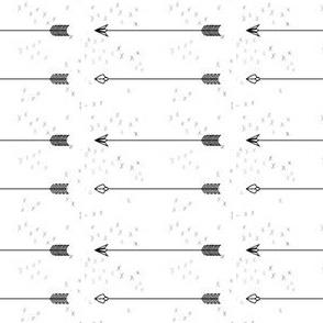 Arrows b&w crosses
