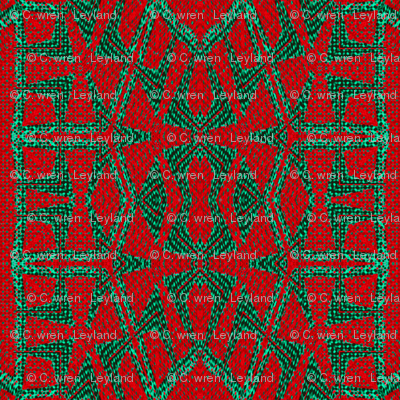 Red Green Woven