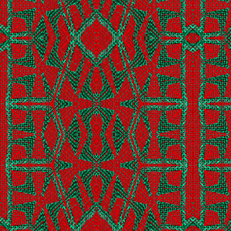 Red Green Woven  fabric by wren_leyland on Spoonflower - custom fabric