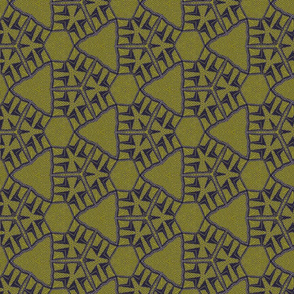 Olive green and navy triads