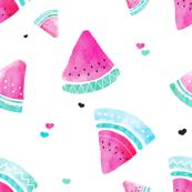 Water melon tropical juicy fruit fresh summer illustration water color print design