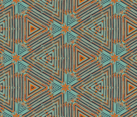 bamboo triangles fabric by wren_leyland on Spoonflower - custom fabric