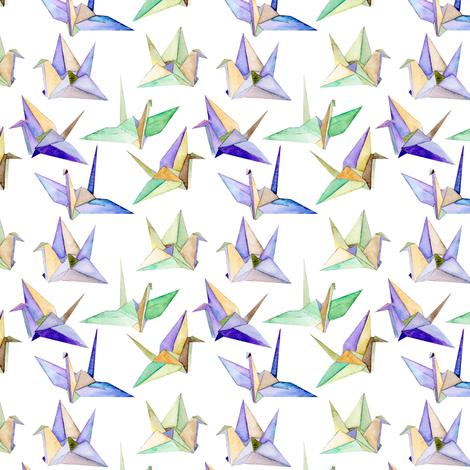 Origami Cranes - small fabric by emmaallardsmith on Spoonflower - custom fabric