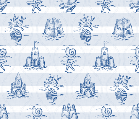 Sandcastle Nautical a.m. fabric by mia_valdez on Spoonflower - custom fabric
