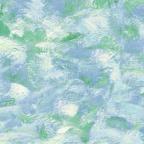 abstract paint swirl - blue and green