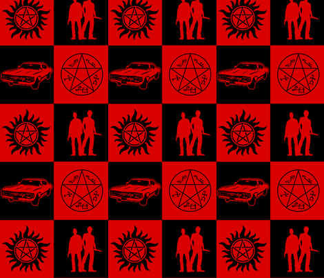 SPN-Checkers fabric by gnarllymamadesigns on Spoonflower - custom fabric
