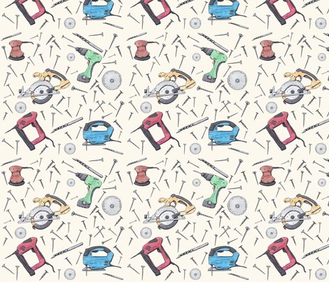 Power Tools fabric - svaeth - Spoonflower