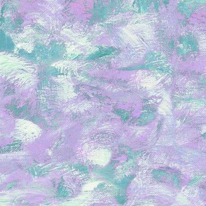 abstract paint swirls - teal and purple