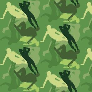 Sexy Man Camo-Green