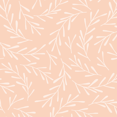 Peach Sprigs fabric by anniemathews on Spoonflower - custom fabric