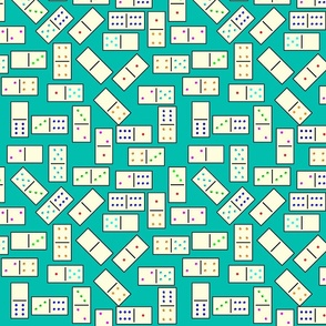 DominoTiles_Turquoise_Background