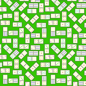 DominoTiles_Green_Background