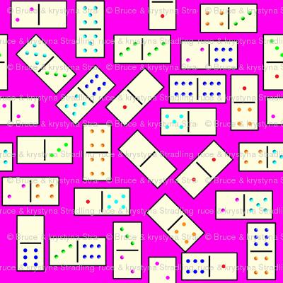 DominoTiles_Pink_Background