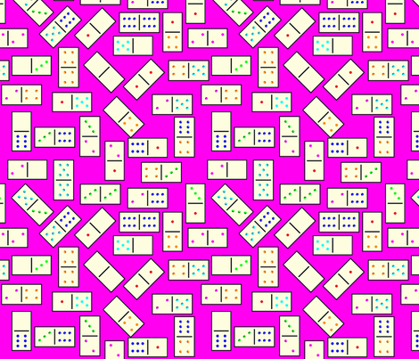 DominoTiles_Pink_Background fabric by stradling_designs on Spoonflower - custom fabric