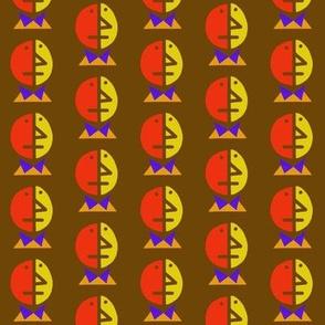 Bipolar Blues Orange Yellow Brown