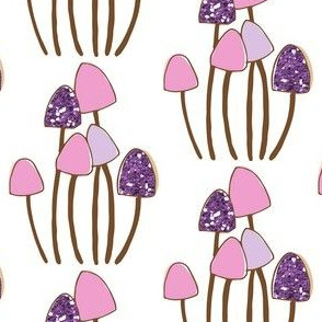 Glitter Mushrooms