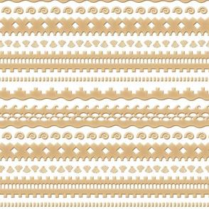 Tribal sandcastle (sand style)