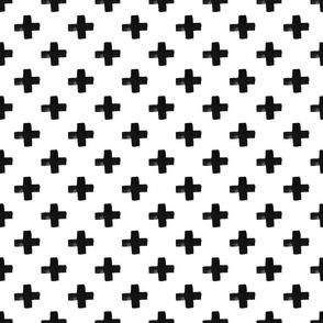 black crosses on white | modern plus signs
