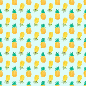 Large Pineapples on Aqua