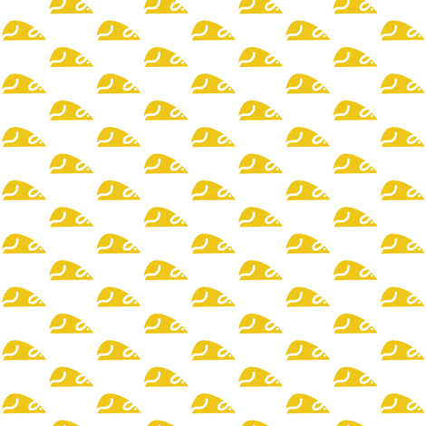 Golden Racing Rats fabric by eve_catt_art on Spoonflower - custom fabric