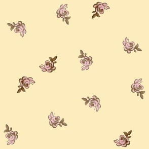 Petit Trianon ~ Rosebud Calico ~ Trianon Cream