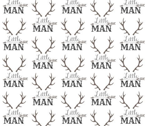 Little Man Arrow & Horns  fabric by hudsondesigncompany on Spoonflower - custom fabric