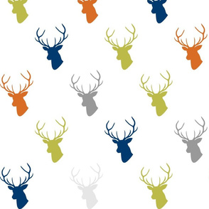 Green Navy Orange Custom Deer