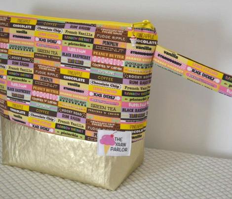Scoop du Jour (Version 2) || ice cream scoop sweet dessert typography pastel rainbow summer stripes