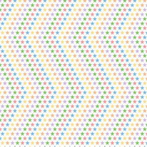 Stars & Stripes to the Max (White) || pop art 80s retro rainbow chevron geometric superstar children kids baby nursery