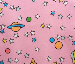 Outer Space to the Max (Pink) || stars planets galaxy universe children kids baby nursery