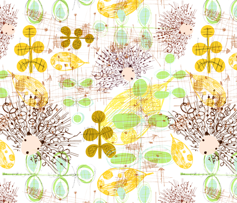 Fancy hedging a ride with me? fabric by mimipinto on Spoonflower - custom fabric