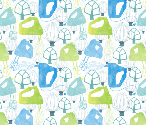 kitchen power fabric by pattyryboltdesigns on Spoonflower - custom fabric
