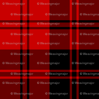 Erskine black and red tartan